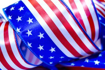 Ribbon USA flag.