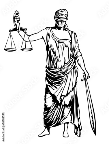 Quot Blind Justice Symbol Quot Stock Image And Royalty Free Vector