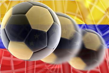 Flag of Venezuela wavy soccer