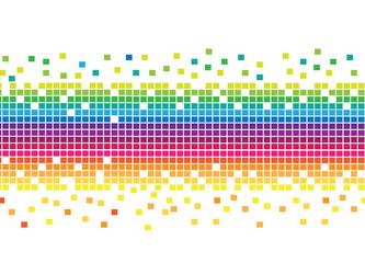 Fotobehang Pixel Mosaic Rainbow