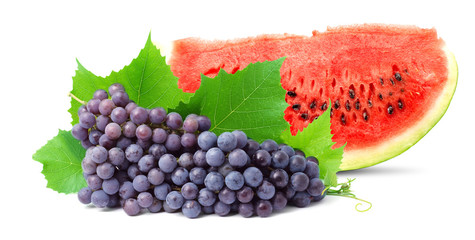 Watermelon and grape