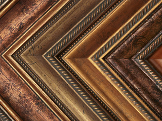 Picture frame samples gold and bronze