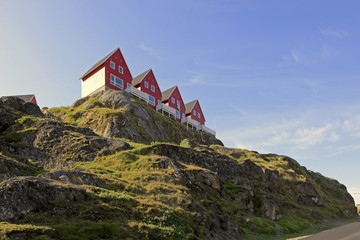 Houses with views in Sisimiut, Greenland.