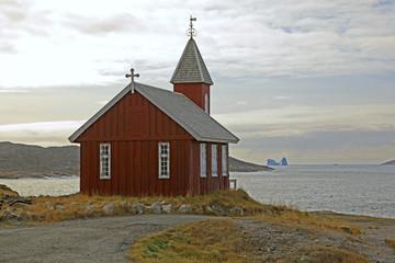 Old church in Upernavik, Greenland.