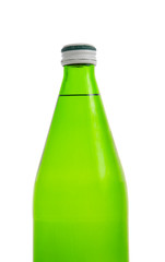 top of green bottle isolated