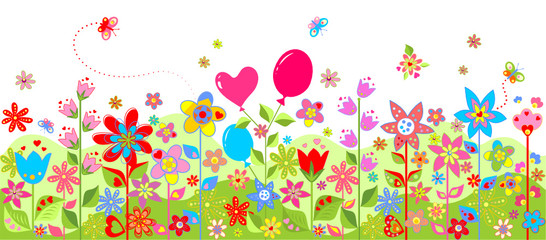 Spring colorful seamless card