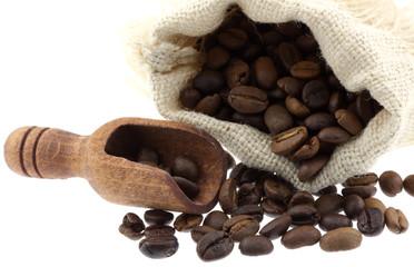 sac café torréfié fond blanc