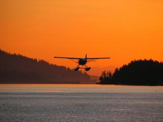 sunset wasserflugzeug