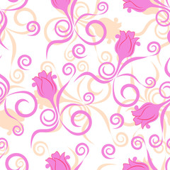 Seamless background with flower pattern
