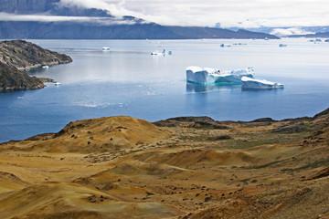 Mineral island by Uummannaq, Greenland.