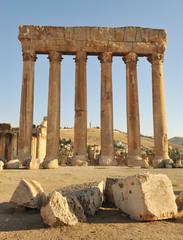 roman columns at baalbeck lebanon