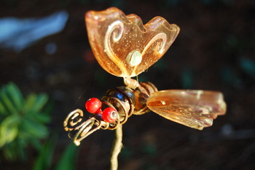 Glass butterfly garden decoration