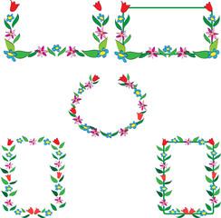 Wall Mural - Flower Frame