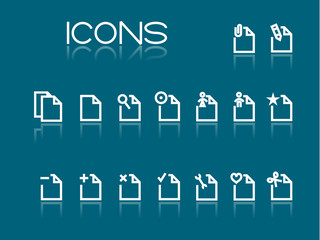 Set of simple white icons