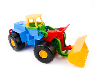 colourful kid toy on white background