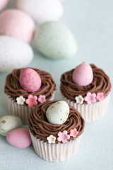 Wall Mural - Easter cupcakes
