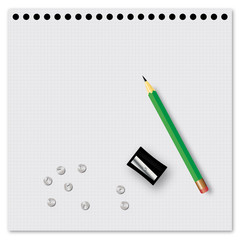 School supplies - vector illustration