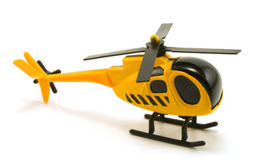 Foto op Plexiglas Helicopter Toy helicopter