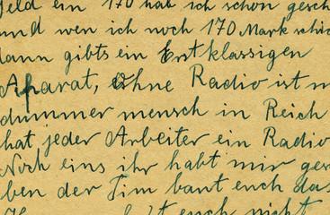 old letter detail