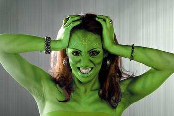 Green Alien Woman