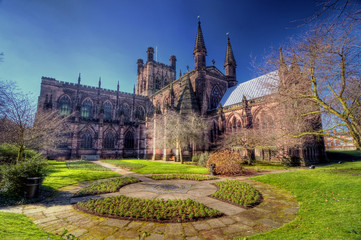 HDR image of Chester Cathedral Wall mural
