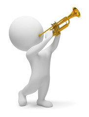 3d small people - trumpet