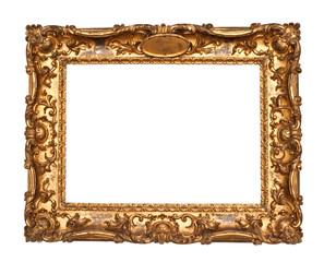 Old golden frame
