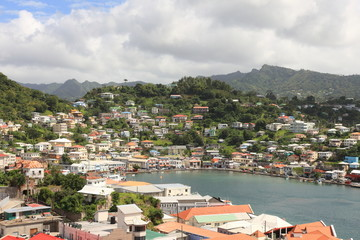 St. George's is the capitol of Grenada with very nice harbor
