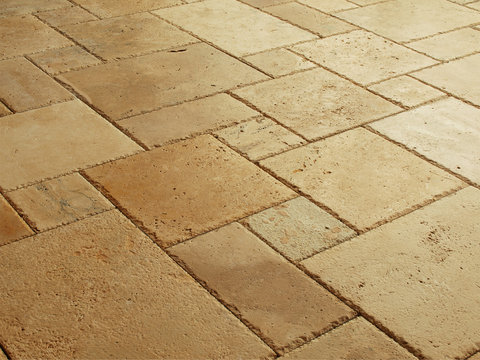 Natural stone tiles floor