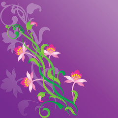 Background with floral ornaments.