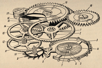 Old Clockwork Diagram