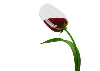 Tulip-style wine glass concept