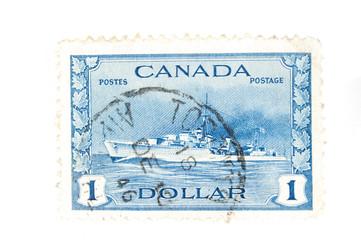 vintage Canadian postage stamps