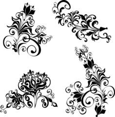 Floral ornament, Element for design, vector illustration