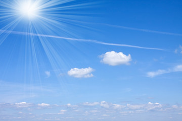 Cloudy sky and sunny light