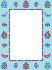 easter frame decoration