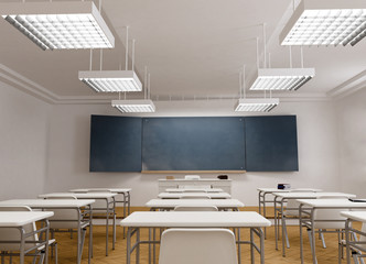 Frontal view of a Classroom