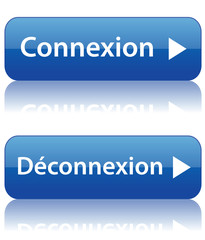 Boutons CONNEXION et DECONNEXION (internet web login logout)
