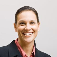 Businesswoman smiling