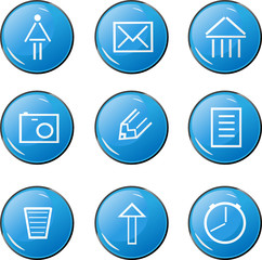 The blue icons with images