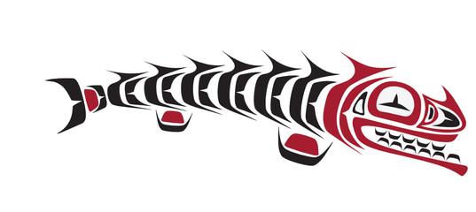 crazy fish - aboriginal art stylization