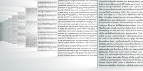Text im Raum III - Focus