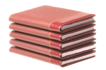Stack of Diaries Isolated