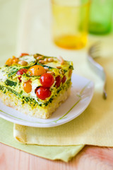 slices of vegetable gratin(quiche)