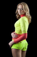 Beautiful sporty young woman wearing bright clothes