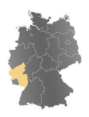 Deutschlandkarte Rheinland-Pfalz