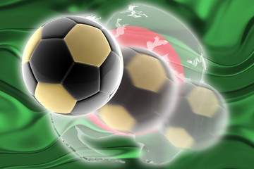 Flag of Bangladesh wavy soccer website