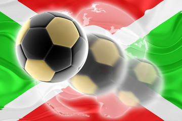 Flag of Burundi wavy soccer website