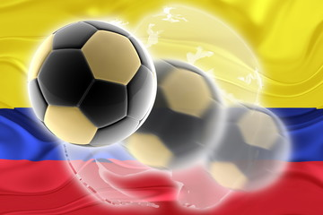 Flag of Colombia wavy soccer website
