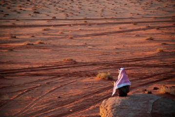 Arab man in desert